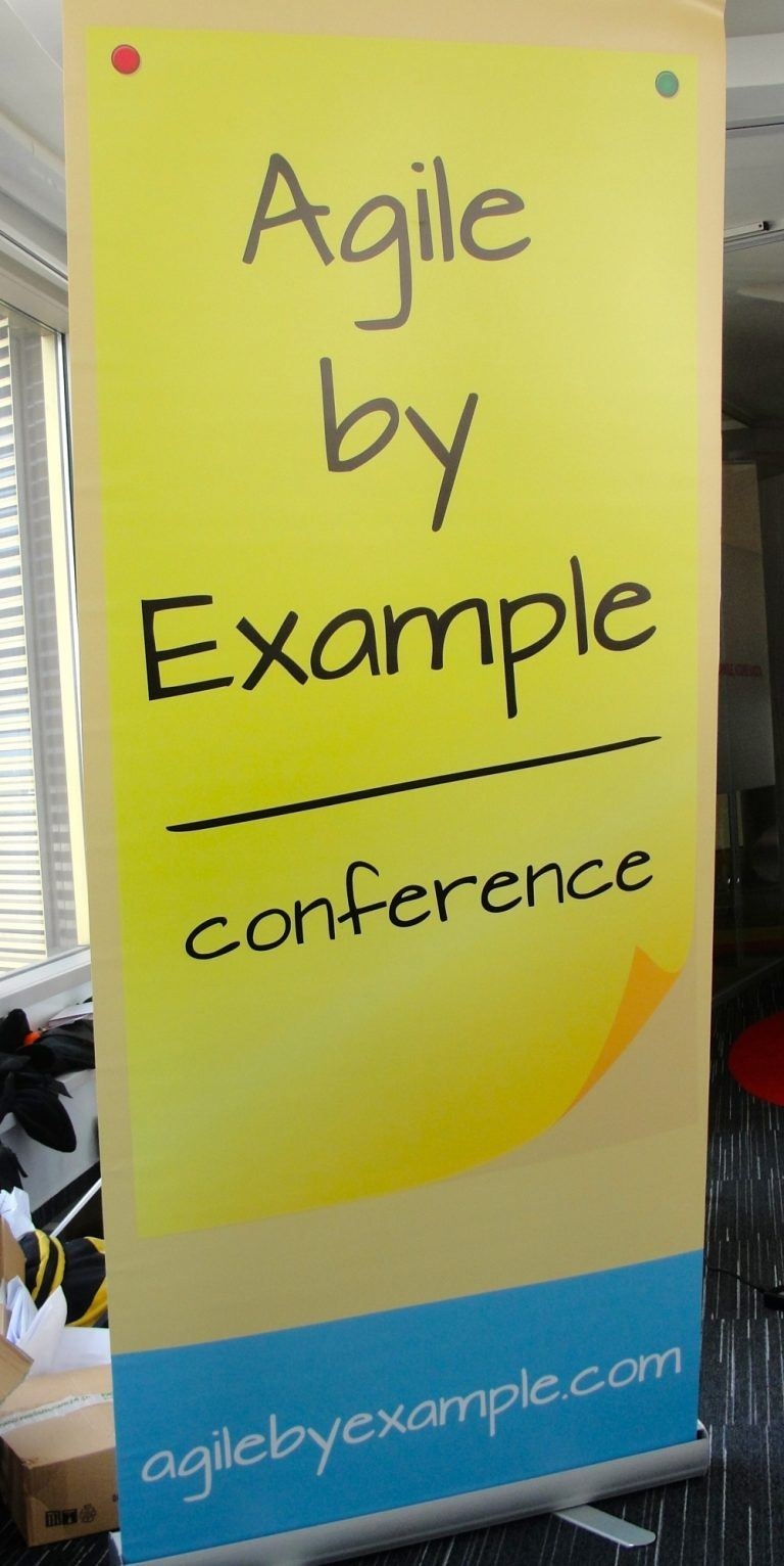 Baner reklamujący cykl Agile By Example