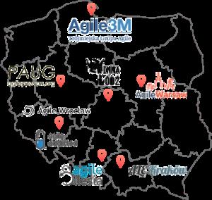 Mapa społeczności agile w Polsce